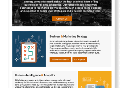 About &Marketing One-Pager